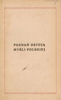 Poznań ostoją myśli polskiej