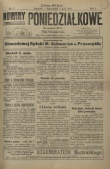 Nowiny Poniedziałkowe. 1919, R. 1, nr 8-11 (maj)
