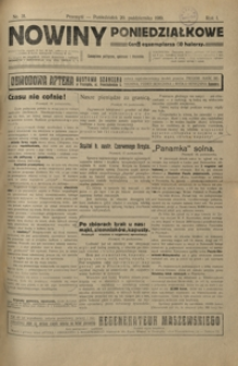 Nowiny Poniedziałkowe : czasopismo polityczne, społeczne i literackie. 1919, R. 1, nr 29-32 (październik)