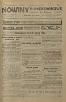Nowiny Poniedziałkowe : czasopismo polityczne, społeczne i literackie. 1919, R. 1, nr 37-41 (grudzień)