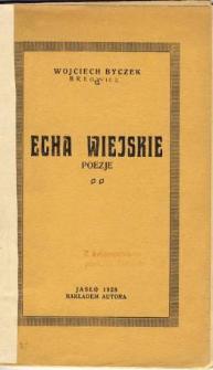 Echa wiejskie : poezje