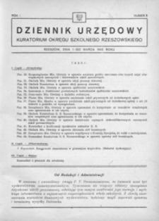 Dziennik Urzędowy Kuratorium Okręgu Szkolnego Rzeszowskiego. 1946, R. 1, nr 3 (marzec)