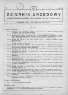 Dziennik Urzędowy Kuratorium Okręgu Szkolnego Rzeszowskiego. 1946, R. 1, nr 4 (kwiecień)