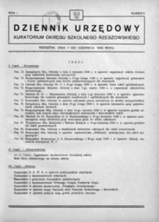 Dziennik Urzędowy Kuratorium Okręgu Szkolnego Rzeszowskiego. 1946, R. 1, nr 6 (czerwiec)