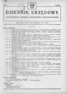 Dziennik Urzędowy Kuratorium Okręgu Szkolnego Rzeszowskiego. 1946, R. 1, nr 9 (wrzesień)