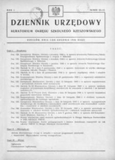 Dziennik Urzędowy Kuratorium Okręgu Szkolnego Rzeszowskiego. 1946, R. 1, nr 10-12 (grudzień)