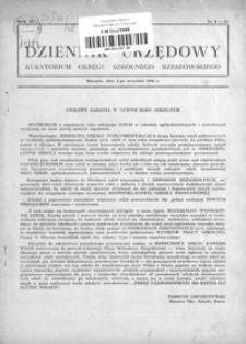 Dziennik Urzędowy Kuratorium Okręgu Szkolnego Rzeszowskiego. 1948, R. 3, nr 9-10 (wrzesień)