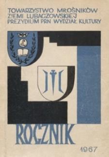 Rocznik. Towarzystwo Miłośników Ziemi Lubaczowskiej. 1967, [T. 1]