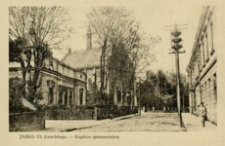 Jasło. Ul. Czackiego - Kaplica gimnazjalna [Widokówka czysta]