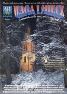Waga i Miecz : miesięcznik Samorządu i Towarzystwa Miłośników Ziemi Strzyżowskiej. 2001, [R. 11], nr 11-12 (listopad-grudzień)