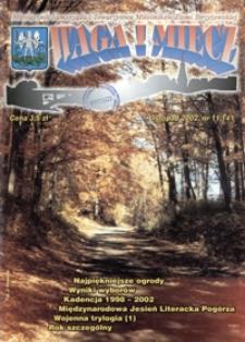 Waga i Miecz : miesięcznik Samorządu i Towarzystwa Miłośników Ziemi Strzyżowskiej. 2002, [R. 12], nr 11 (listopad)