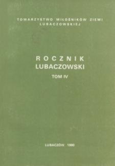 Rocznik Lubaczowski. 1990, T. 4