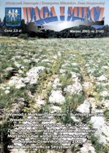 Waga i Miecz : miesięcznik Samorządu i Towarzystwa Miłośników Ziemi Strzyżowskiej. 2003, [R. 13], nr 3 (marzec)