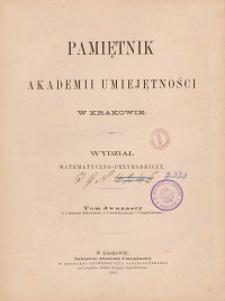 Pamiętnik Akademii Umiejętności w Krakowie. Wydział Matematyczno-Przyrodniczy. T. 12