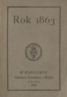 Rok 1863 : obrazy i wspomnienia
