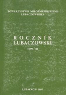 Rocznik Lubaczowski. 1997, T. 7