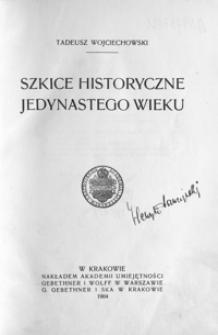 Szkice historyczne jedynastego wieku