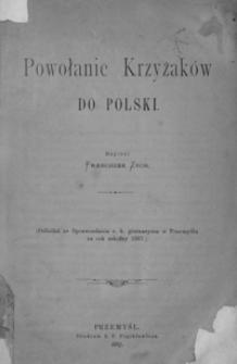 Powołanie Krzyżaków do Polski