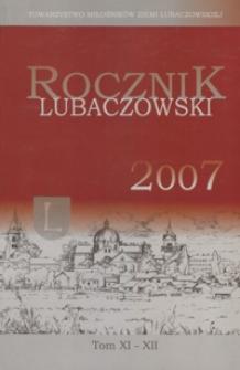 Rocznik Lubaczowski. 2001-2003, T. 11-12