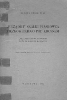 """""""Prządki"""" skałki piaskowca ciężkowickiego pod Krosnem = """"Prządki"""" groupe de rochers pres de Krosno, Karpates"""