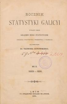Rocznik Statystyki Galicyi. R. 3