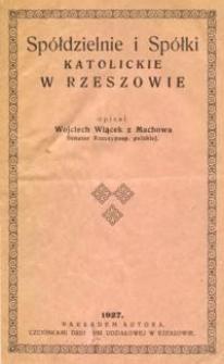 Spółdzielnie i spółki katolickie w Rzeszowie