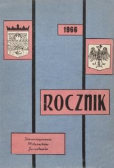 Rocznik Stowarzyszenia Miłośników Jarosławia. 1966, [R. 6]