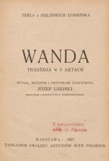Wanda : tragedja w 5 aktach