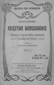 Księstwo Warszawskie : obrazy z życia kilku ostatnich pokoleń w Polsce. T. 2