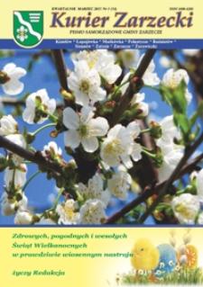 Kurier Zarzecki : pismo samorządowe gminy Zarzecze : Kisielów, Łapajówka, Maćkówka [...]. 2011, nr 1