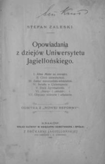 Opowiadania z dziejów Uniwersytetu Jagiellońskiego