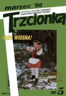 Trzcionka : kwartalnik społeczno-kulturalny Towarzystwa Przyjaciół Trzciany. 1998, nr 5