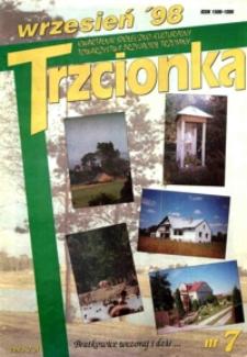Trzcionka : kwartalnik społeczno-kulturalny Towarzystwa Przyjaciół Trzciany. 1998, nr 7