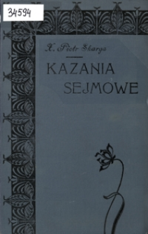 Piotra Skargi Kazania sejmowe