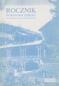 Rocznik Rymanowa Zdroju. 1998, T. 3