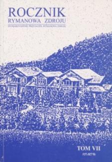 Rocznik Rymanowa Zdroju. 2002, T. 7
