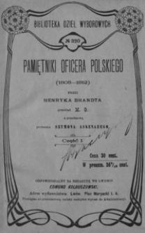 Pamiętniki oficera polskiego (1808-1812). Cz. 1
