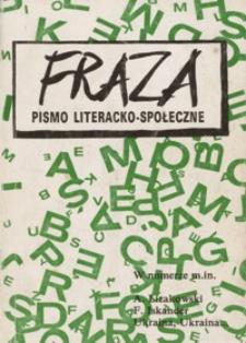 Fraza : pismo literacko-społeczne. 1993, R. 3, nr 3-4