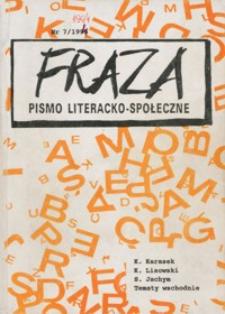 Fraza : pismo literacko-społeczne. 1995, R. 5, nr 7