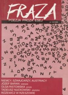Fraza : poezja, proza, esej. 1996, R. 6, nr 13