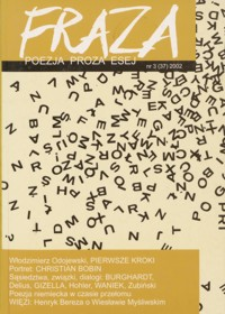Fraza : poezja, proza, esej. 2002, R. 11[!], nr 37
