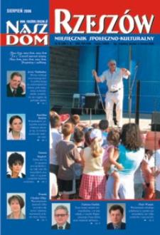 Nasz Dom Rzeszów : miesięcznik społeczno-kulturalny. 2006, R. 2, nr 8 (sierpień)