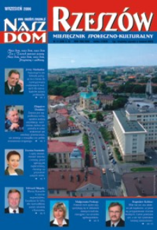 Nasz Dom Rzeszów : miesięcznik społeczno-kulturalny. 2006, R. 2, nr 9 (wrzesień)