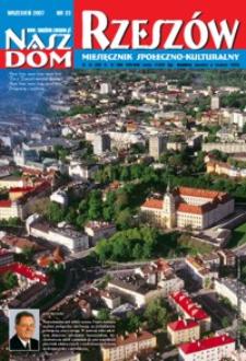 Nasz Dom Rzeszów : miesięcznik społeczno-kulturalny. 2007, R. 3, nr 9 (wrzesień)