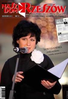 Nasz Dom Rzeszów : miesięcznik społeczno-kulturalny. 2011, R. 7, nr 8 (sierpień)