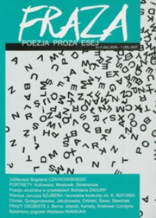 Fraza : poezja, proza, esej. 2006/2007, R. 16, nr 54-55