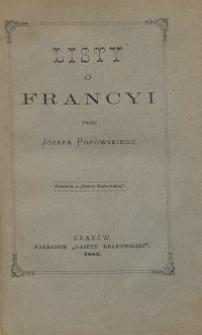 Listy o Francyi