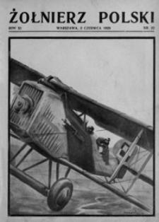 Żołnierz Polski. 1929, R. 11, nr 22 (2 czerwca)