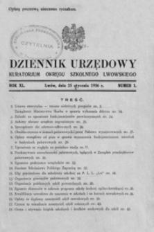 Dziennik Urzędowy Kuratorjum Okręgu Szkolnego Lwowskiego. 1936, R. 40, nr 1-12