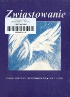Zwiastowanie : pismo Diecezji Rzeszowskiej. 1992, R. 1, nr 1